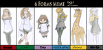 6 Forms meme - completed by scribblin