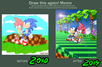 Draw this again!: Sonic and Amy by Libellchen174