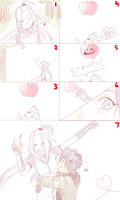 Nagisa and the troll apple D: by BayneezOne