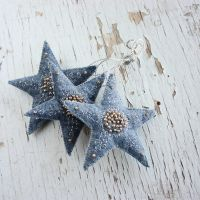 Felt stars ornament by WhiteSquaw