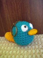 Perry the Platypus Keychain by CataCata23