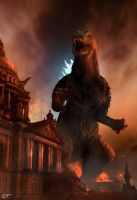 Godzilla in Belfast by Chrisofedf