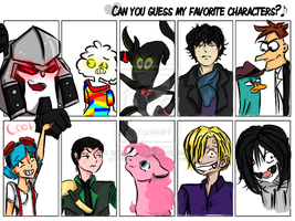 Can You Guess My Favorite Character 1 by Mika-19