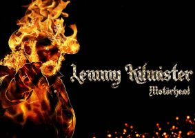 Lemmy in flames by Cid208