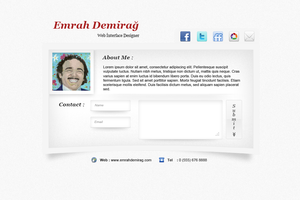 Personal Presentation Page psd by emrah-demirag