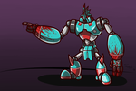 Blue and Red Robot by FreeDom-Gurl123