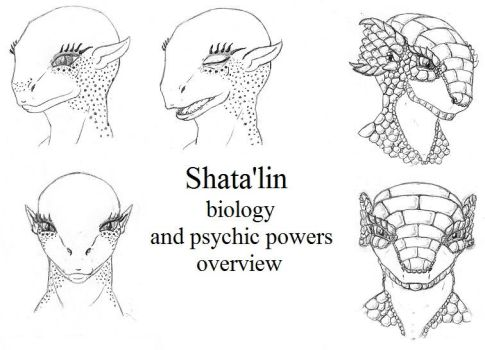 Shata'lin biology and psychic powers overview by HidesHisFace