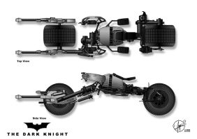 Batpod - Side and Topview by Paul-Muad-Dib