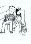 Calvin and Susie on a Bus WIP by Fenrira