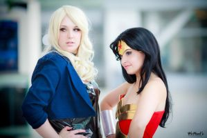 Wonder Woman and Black Canary by Torremitsu