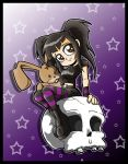 Commission- Girl And Skull by Carlos-the-G