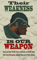 Anti-Soldier Propaganda Poster by TankTaur