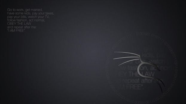 Kali linux wallpaper 'I am free' #2 by salvoru87