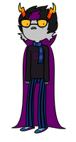a very frightened eridan by HomestuckFanPoop