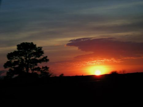 Sunset at 70 mph by Finchley