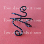 Purple wire earcuff by Tooi