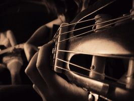 Can't play on broken strings. by VictoriaAdora