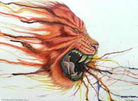 Watercolour Tiger by RerinKin