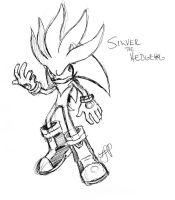 Silver the Hedgehog by arvalis