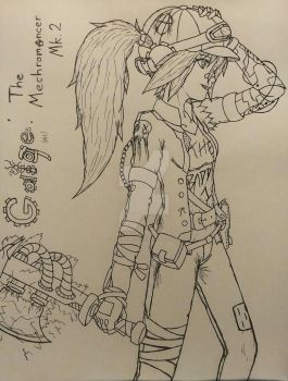 If Gaige was in Borderlands 3... (Concept) by Talon-Reiif