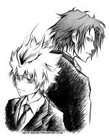 KHR - Tsuna and Gokudera by Arya-Aiedail