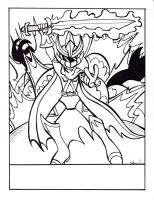 Coloring page -sentai guy by Sea-Salt