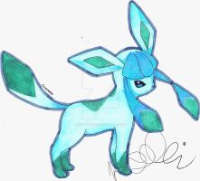 Glaceon by Kellalizard