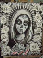 Day of the Dead Virgin Mary by miss-pip
