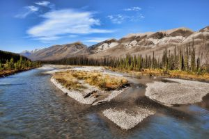 Kicking Horse River valley by skip2000