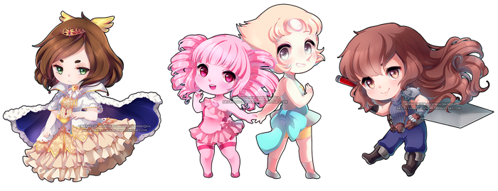 chibi batch 1 by LaDollBlanche