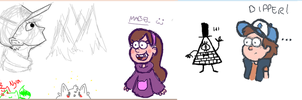 Gravity Falls iScribble fun by MaryThaCake