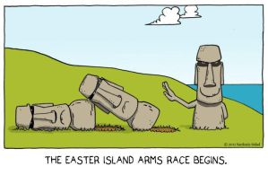 meanwhile on easter island by The-Sardonics