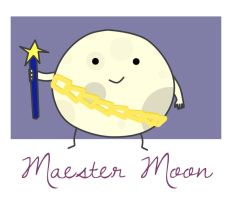 Adventure Time OC: Maester Moon by underaoised