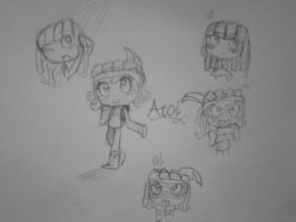 Tearaway Atoi doodles by Music-Lovette123