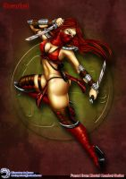 Fan-Art - Mortal-Kombat Scarlet by Elinewton
