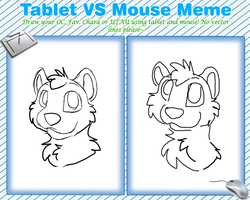 Tablet vs. Mouse Meme by Mangoswirls