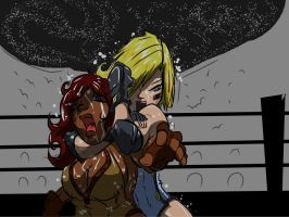Tessa vs Stonia Choke Hold by cyberaix
