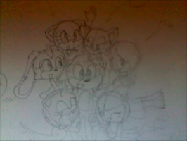 Sonic and his Fangirls by MitzyMiniKitty