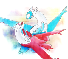 Latias and Latios by Elycian