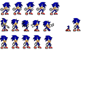 sonic custom sprite by phoenixTH14