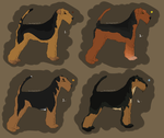 Airedale Adoptables OPEN by peacedogg