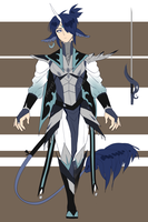 [CLOSED]Auction: Blue Unicorn Knight by Pharos-Chan