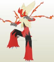 Mega Blaziken unfold Done by javierini