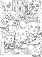 PokeBusters Pencil Sketch by pikabellechu