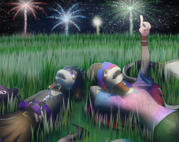 PKMNC: fireworks night by coyotepack