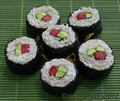 Sushi Ornaments-beef maki- by MorganCrone