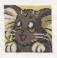 Ryo-ohki face cross stitch by Lil-Samuu