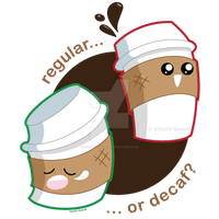Regular vs. Decaf by kimchikawaii