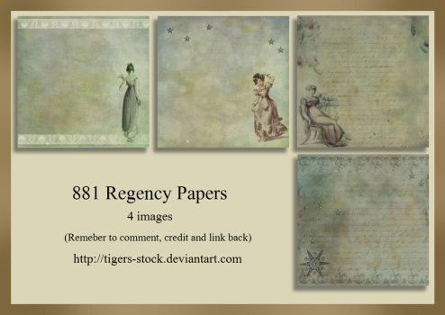 881 Regency Papers by Tigers-stock