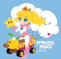 Princess Peach ::Mario Kart 8:: by YamPuff